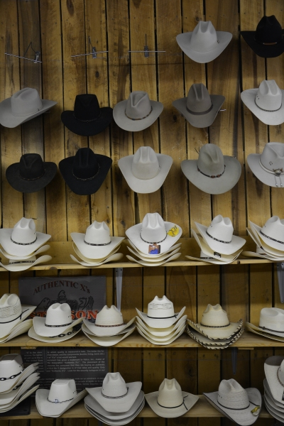 Cowboy hats that have been made by generations of artistes