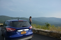 The view is amazing from Skyline Drive