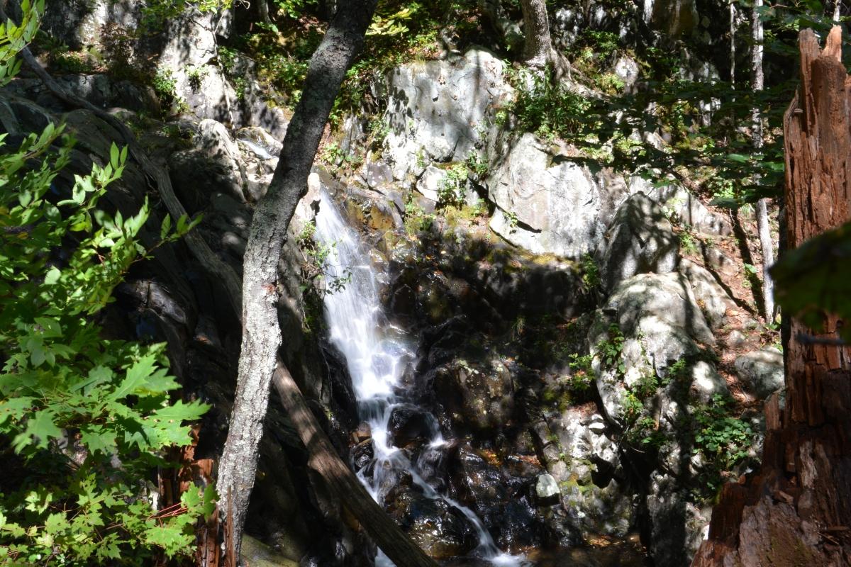 The waterfall at Rose River Loop