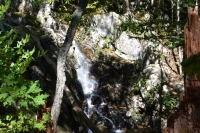 The waterfall at Rose River Loop