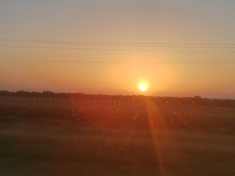 To drive all night and see a midwestern sunrise