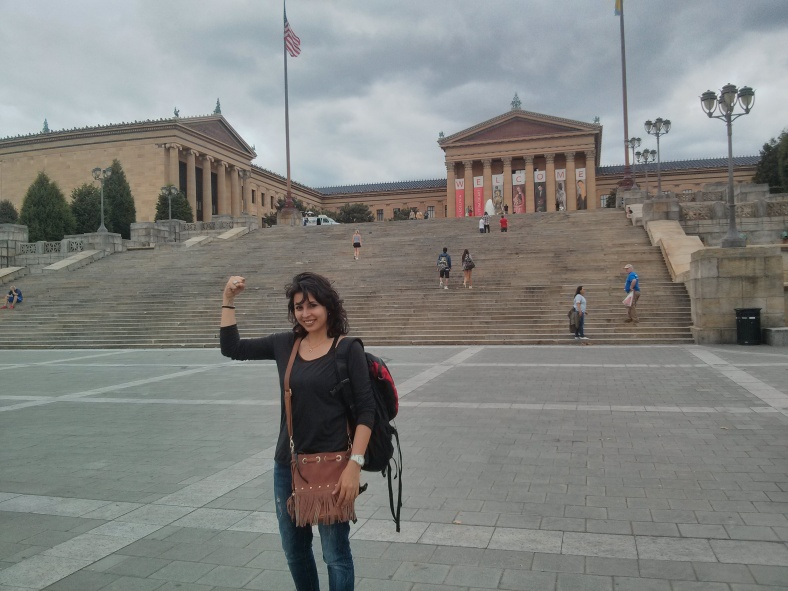 To stand where Rocky Balboa once stood