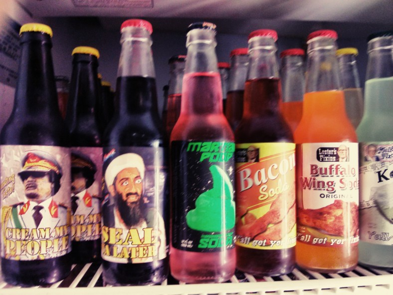 Exotic sodas from the imaginations of the owners