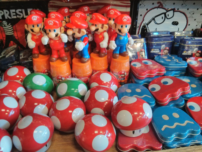 Mario-themed goodies, for us 80s kids
