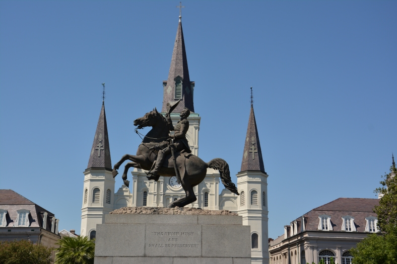 Jackson Square, named after Andrew Jackson