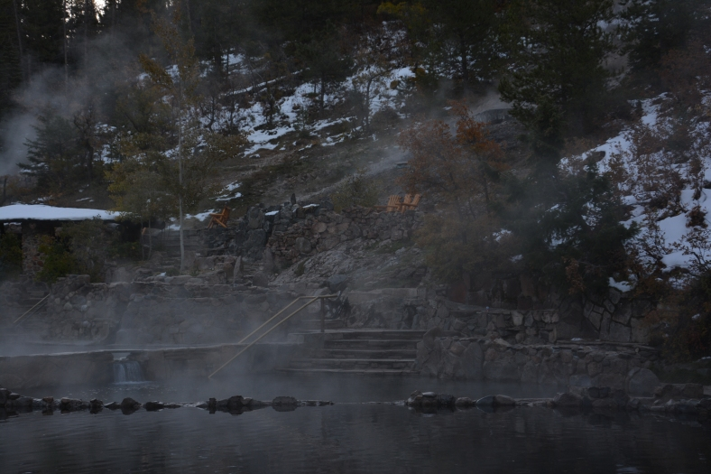 For your hot springs that steamed with mineral goodness even while snow lined their edges
