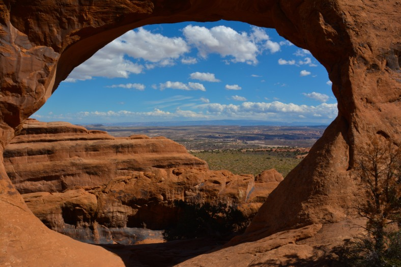 A view through the arches, at Arches NP