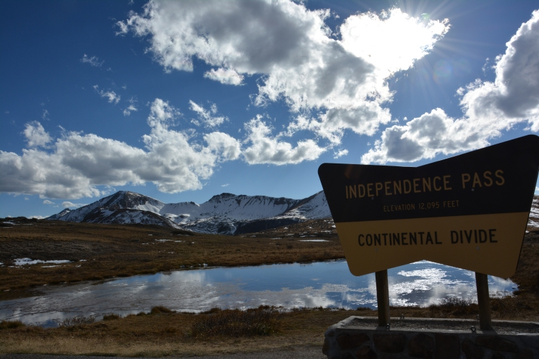 For your Independence Pass, which lies 12000 feet high on a continental divide, and stunned us into silence