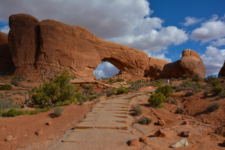The Windows trail at Arches NP