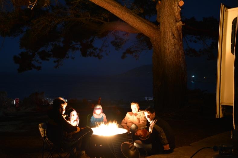 Camping neighbours in Utah