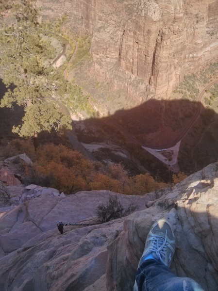 The thrilling hike to Angel's Landing, recommended by a ranger and now a lifetime memory